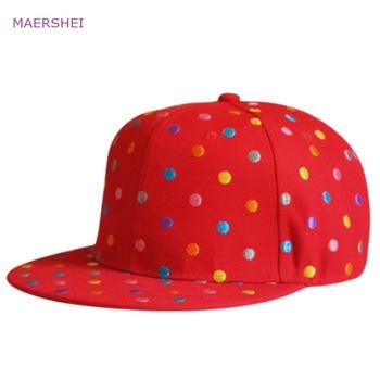 MAERSHEI Kids hat little embroidery baseball caps girls cap wild casual hip hop hip hop flat hats