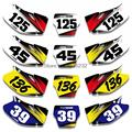 For HONDA CRF450 CRF450R 2002 2003 2004 Custom Graphics Number Plate Background Decals& Stickers Kit