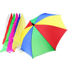 1 Set 40cm Magic Scarves Change The Umbrella (1 Pcs +6 Silks ) Tricks Street Stage Party Accessory