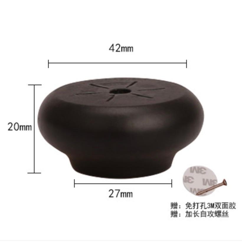 Купить с кэшбэком 8Pieces/Lot  Height:20x42mm Solid Wood Cabinet Table Foot Mat Ball Furniture Legs Pad
