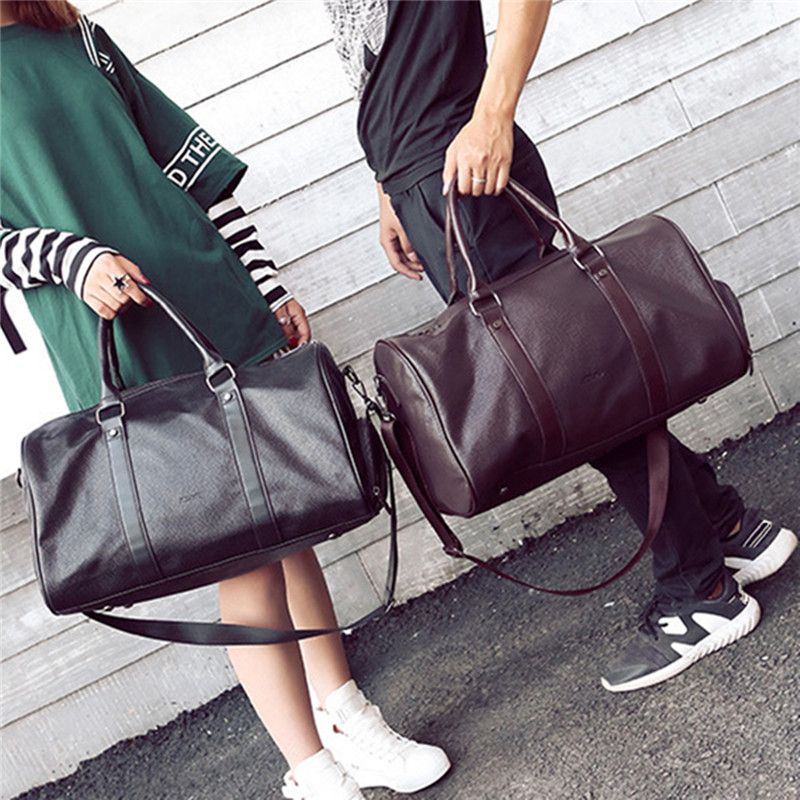 BEAU-Fitness Training Sport Gym Bag Mens Weekend Overnight Luggage Women Totes Large Leather Handbags Shoes Storage Pockets