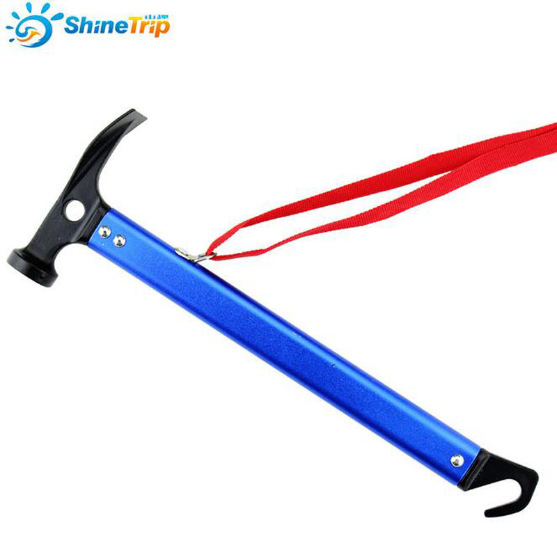 Outdoor Camping Hammer Mallet Multifunction Tent Peg Nail Hammer Spade for Hiking Tent Aluminum Handle Lightweight high quality outdoor 2 person camping tent double layer aluminum rod ultralight tent with snow skirt oneroad windsnow 2 plus