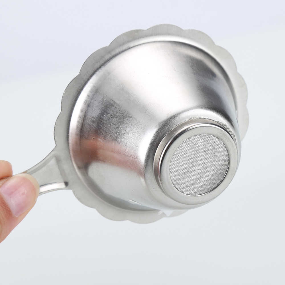 1 個二層罰金メッシュフィルターふるいステンレス鋼のティーストレーナー葉ティーポットスパイスフィルターキッチンアクセサリー