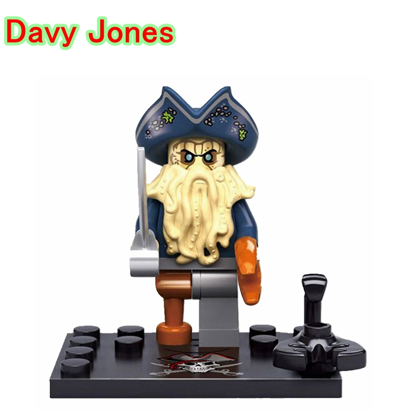 Davy Jones Dolls Single Legoing Pirates Of The Caribbean Flying