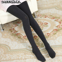 2017 Fashion Women Tights Winter Cotton Stockings Solid Thick Pantyhose For Woman Warm Tight Collant Autumn