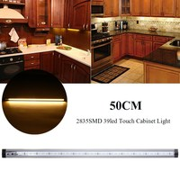 Silver Gray 50CM 2835SMD 39 LED Bar Light Dimmable Under Cabinet LED Stripe Lighting Touch Dimming