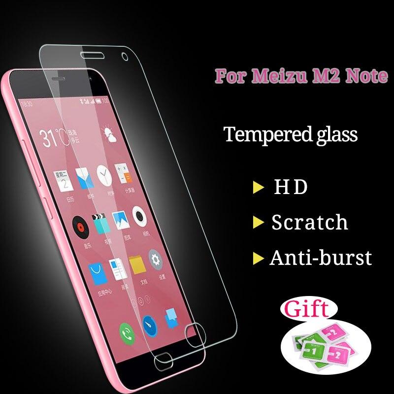 Для Meizu M2 Note Закаленное стекло Фильм 5.5 cm 9 H взрывозащищенные Экран протектор Плёнки для Meizu M2 Note смарт телефон защитить