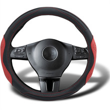 Steering Wheels cover for Mazda 6 Non slip holster Protection cowhide leather cover interior decoration font