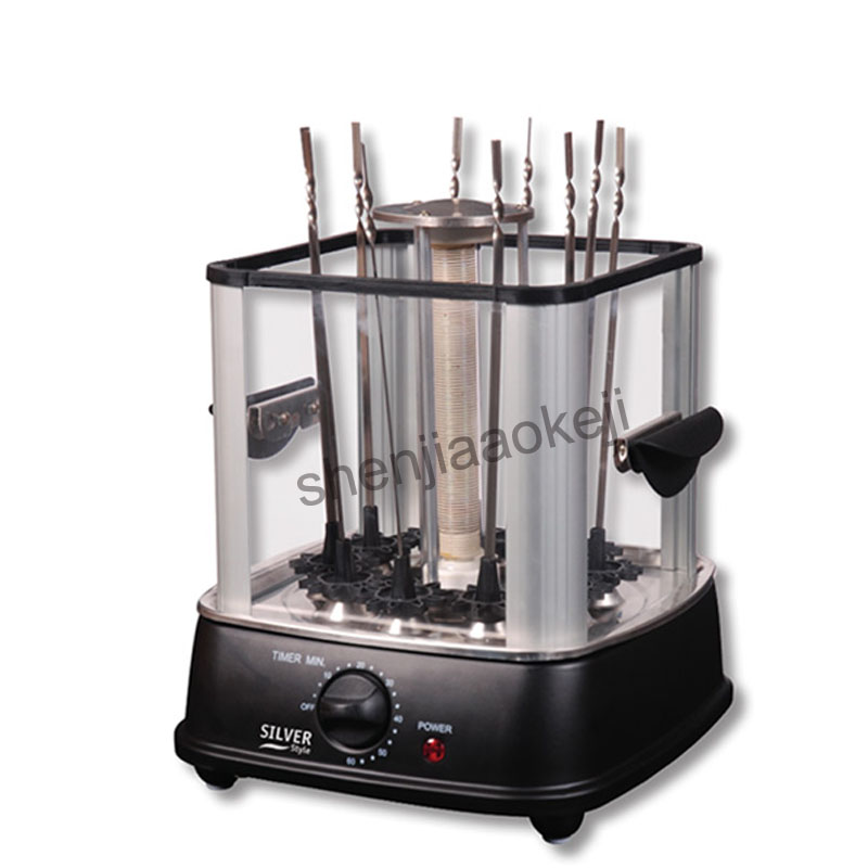 Household Electric oven indoor smokeless barbecue stove automatic rotating barbecue machine lamb kebab machine 220v 1pc hot sale 100%quality guaranteed doner kebab slicer two blades electrical kebab knife kebab shawarma gyros cutter
