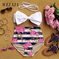 Christmas Gift WEIXIA Sexy Bikini Set Print Swimwear Women Push Up Bandage Beach Bathing Suit