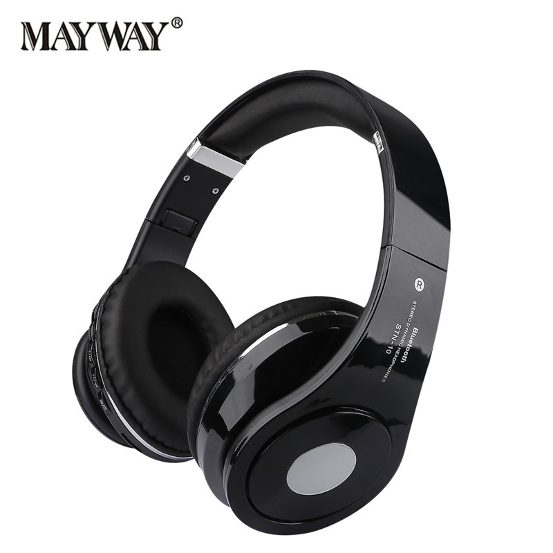 Fashion Wireless Bluetooth Headset Super Bass Headphone With Microphone FM Radio TF Card Lossless Earphone for iphone sumsung good quality bluedio h super bass stereo wireless bluetooth headphone headset with microphone support fm radio