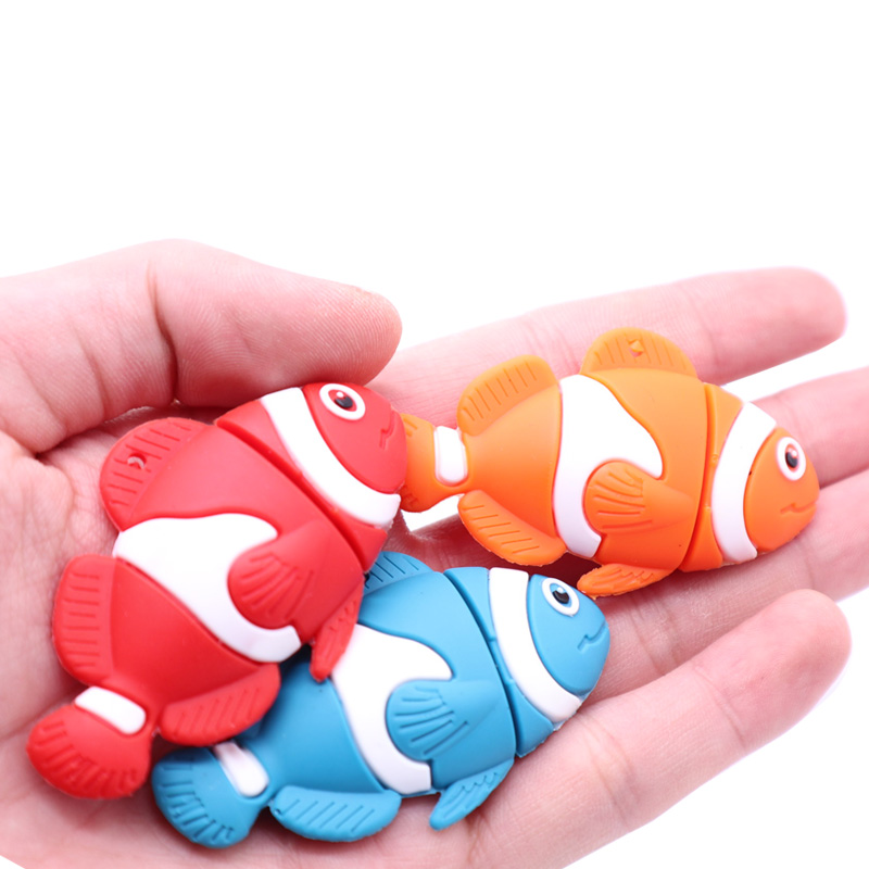 Pen drive real capacity pendrive 4GB 8GB 16GB 32GB 64GB cartoon fish memory disk mini computer gift usb flash drive usb2 0 stick in USB Flash Drives from Computer Office