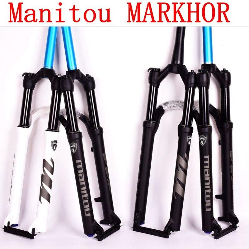 Manitou MARKHOR велосипед вилы 26 27,5 29er горы MTB Велосипедный спорт вилки air marvel Pro Подвеска последние PK к SR SUNTOUR 2018