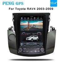 Tesla style Car GPS Navigation For Toyota RAV4 2003 2004 2005 2006 2007 2008 2009 headunit multimedia radio no DVD player 4K