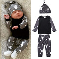 Cartoon Baby clothing set Boy Girl long sleeve Kids sweatshirt pants caps Infantil bebe clothes sets toddler cloth outerwear