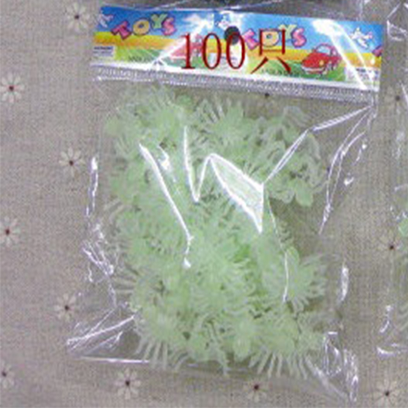 50*Halloween Plastic Silicon Noctilucent Spider Party Haunted House Prop Dec DIY