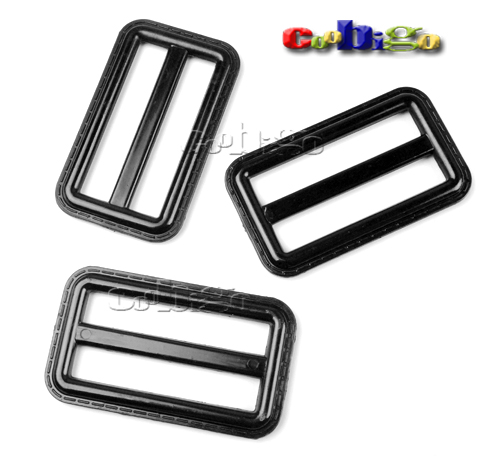10pcs 2 Webbing Plastic Black Tri-glide Slider Adjust Buckles For Outdoor Backpack Strap Garment Webbing Bag Parts Accessories Superior Quality In