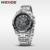 WEIDE Marca de Luxo de Quartzo Analógico Relógio de Pulso dos homens Banda de Aço Inoxidável Prata À Prova D' Água 3ATM Militar Esporte Hot Venda Itens