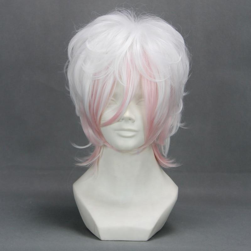 Diabolik Lovers Sakamaki Subaru Cosplay wig Heat Resistance Synthetic Short Hair +Wig Cap