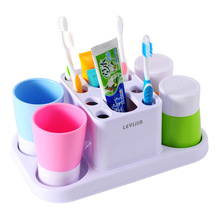 Fashion colorToothbrush rack, toothbrush holder for four family Safety, environmental protection and freshness