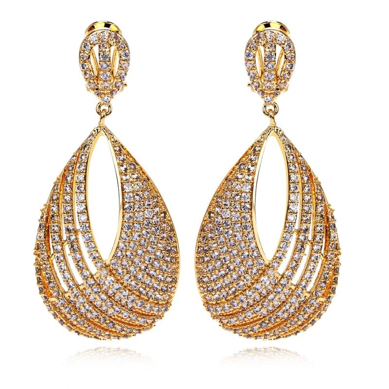 Latest Beautiful Women\'s Luxury CZ Drop Earrings Top Quality ...