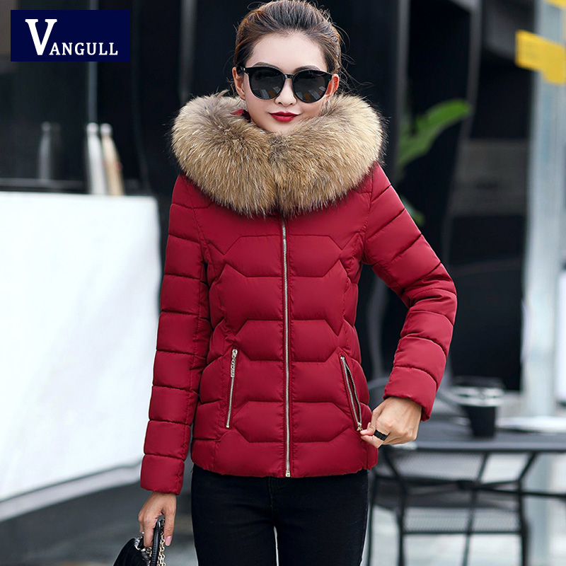winter jacket women Large fur collar down wadded jacket female cotton-padded jackets thickening women winter coat Plus size 3Xl winter jacket women large fur collar wadded padded coats jacket female hooded down cotton coat plus size 5xl parka mujer c2623
