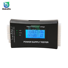 Digital LCD Display PC Computer Power Supply Tester 20/24 Pin USB Connector Check Quick Bank Supply Power Measuring Tester Tool цена 2017
