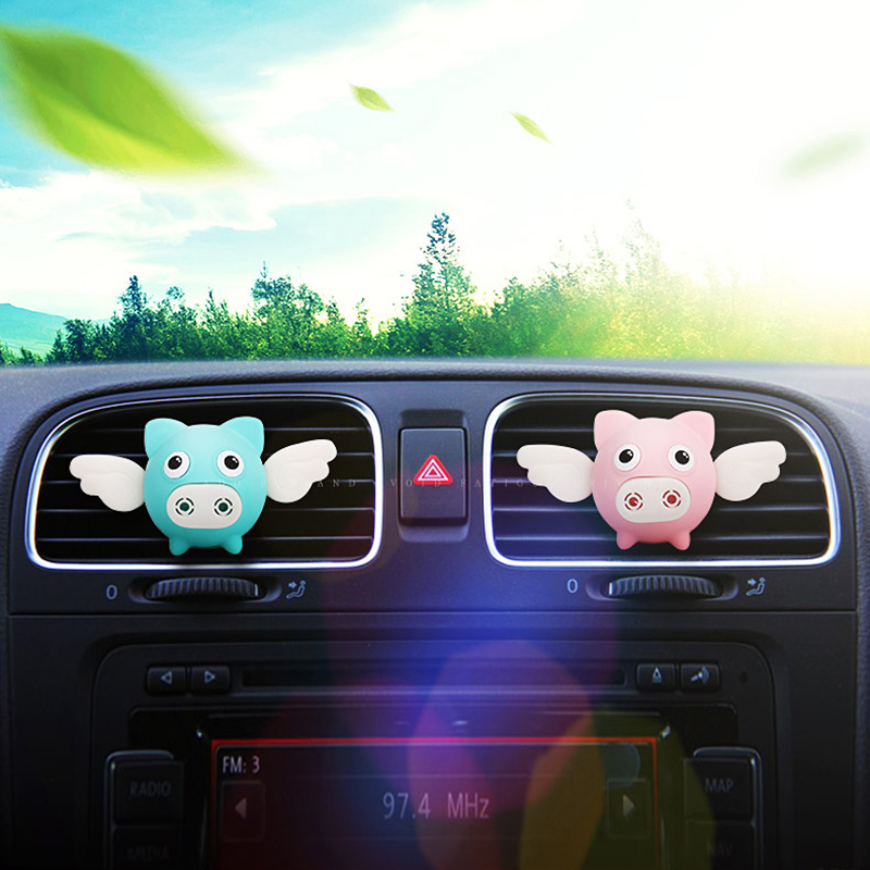 Flying Pig Car Air Outlet Perfume Air Freshener Auto Interior Scent Diffuse Aromatherapy Car Smell Auto Parts Car Accessories