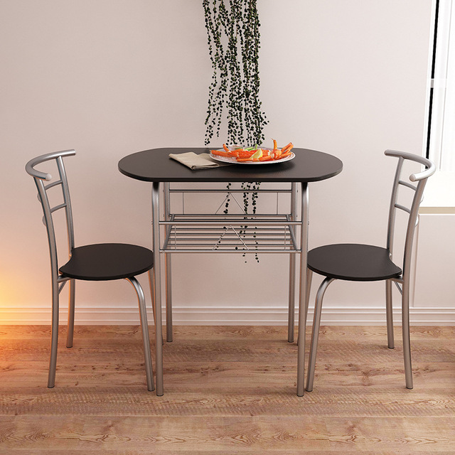 two chair dining table solid oak pressed back chairs lk629 high quality coffee set creative modern tables with restaurant cafe home furniture