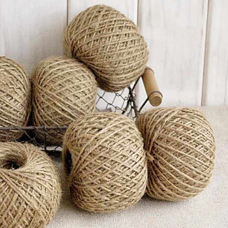 30m Natural Hemp Rope Jute Twine Burlap String Party Wedding Gift Wrapping Cords Thread DIY Sewing Cords Craft