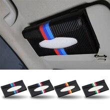 PU Pala de Sol Pendurado caixa de Tecido Caixa de Guardanapo Titular Alemão Bandeira Itália organizador para VW POLO Golf para Mercedes Benz W203 W204 W212 CIA