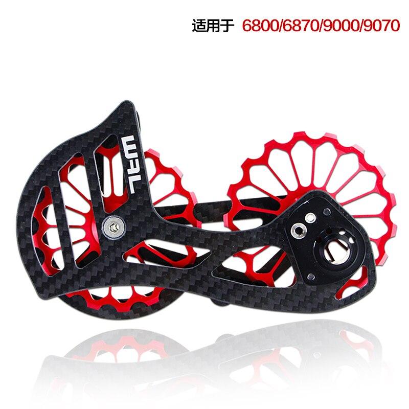 17 T vélo vélo céramique roulement Jockey poulie jeu de roues noir/rouge en Fiber de carbone CNC arrière dérailleurs Guide pour groupe shimano
