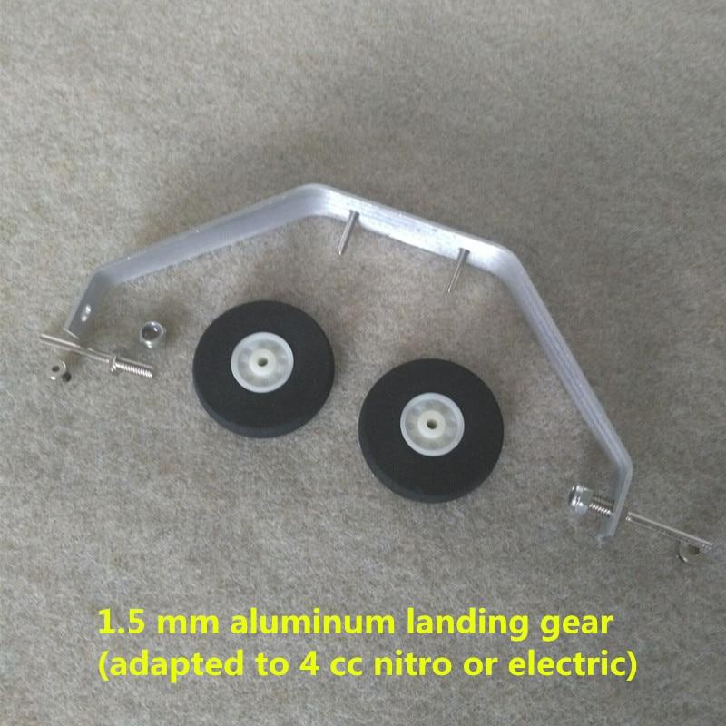 high quality landing gear COMBO aluminium landing gear + sponge wheel + shaft + stoper rc airplane aircraft landing gear high quality odm 96teeth xh timing wheel