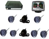 wireless video Parking sensor system Dual view parking sensor;with two car camera and 3.5 inch screen wireless parking sensor