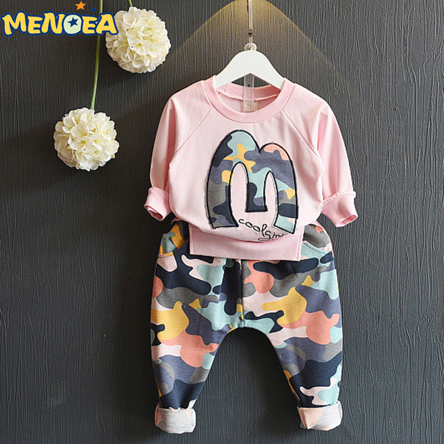 Menoea 2017 Brand New Atutumn Suits Kids Clothing Sets Boy Clothes Sweatshirts+Camouflage Pants 2pcs Camouflage sports suits