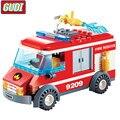 Городской пожарно-спасательный грузовик блоки 156 шт Кирпичи Строительные блоки наборы собранные образовательные игрушки для детей подарок...