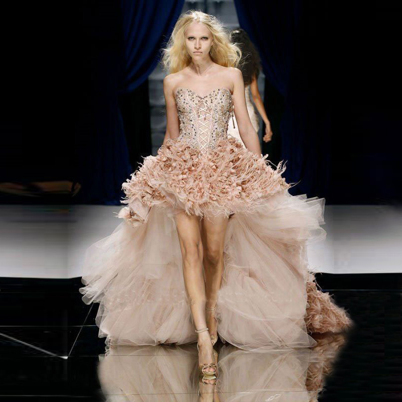 Online Buy Wholesale pink feather wedding dress from China pink ...