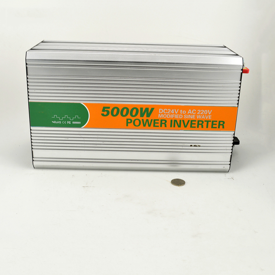 5000w DC 24v to AC 220v modified LED sine wave inverter LED Digital display made in China CE ROHS M5000-242G UPS 5000w dc 48v to ac 110v charger modified sine wave iverter ied digitai dispiay ce rohs china 5000 481g c ups