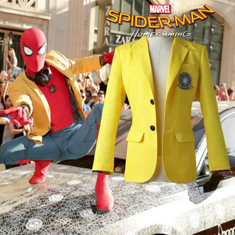 Spider-Man Homecoming Peter Parker Blazer Cosplay Costume School Uniform coat