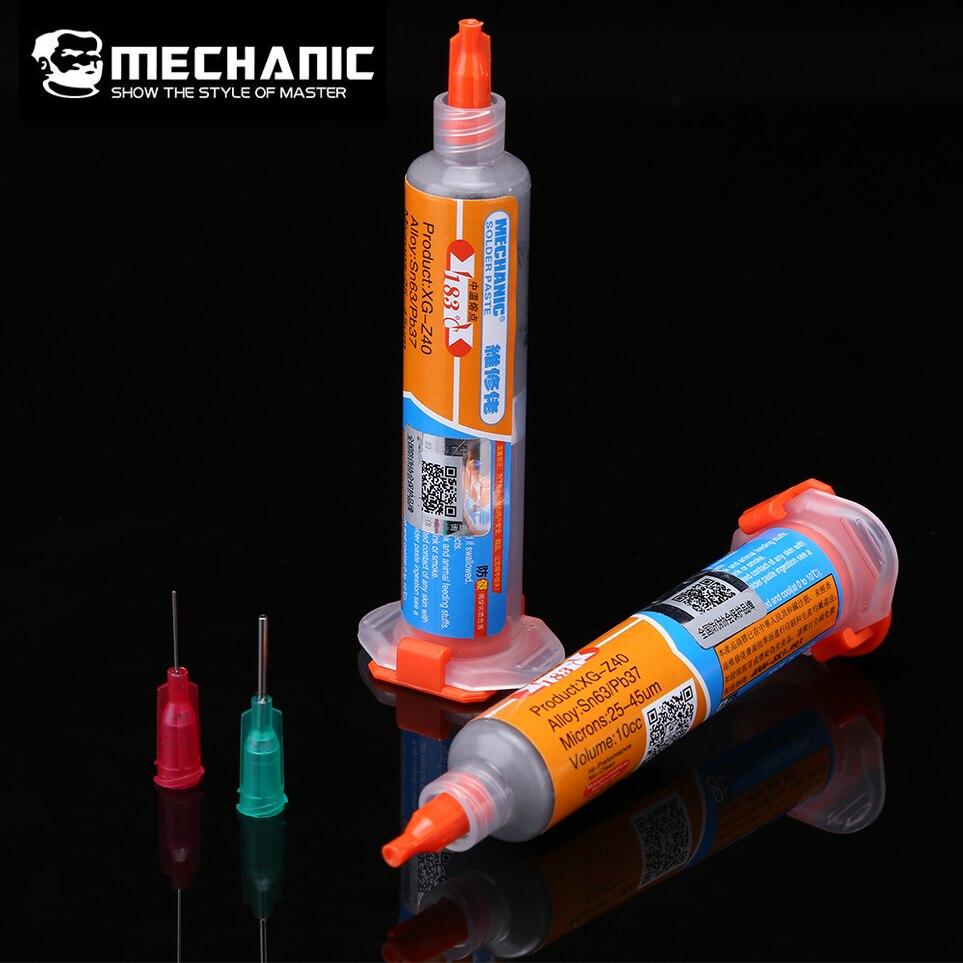 MECHANIC XG-Z40 BGA Solder Flux Paste Soldering Tin Cream Sn63/Pb37 25-45um Motherboard BGA Stencil Welding Tools