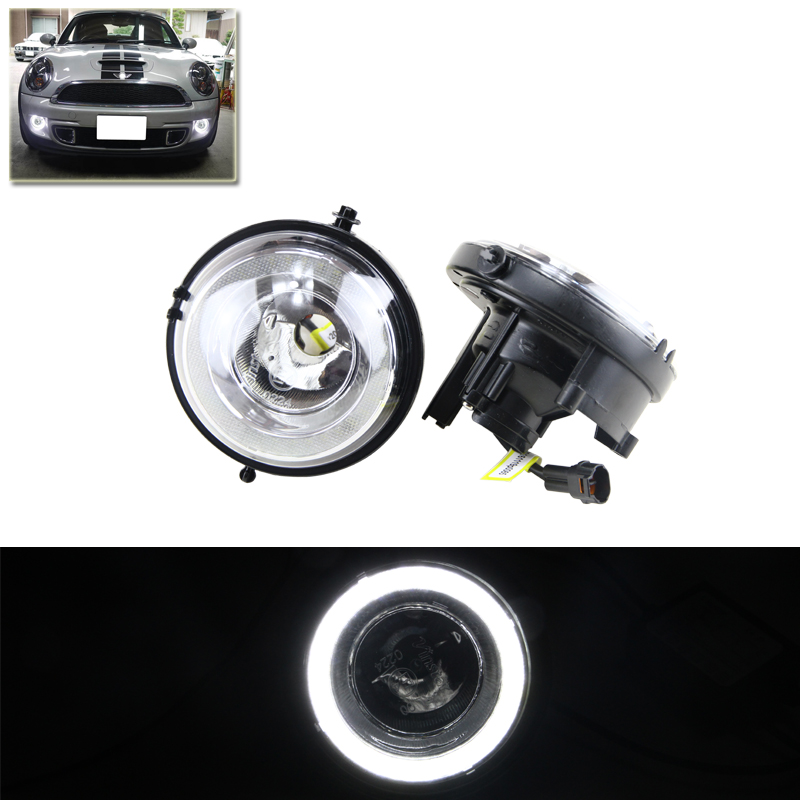 New E4 CE Led Daytime Running DRL Fog Light Halo Ring Kit For Mini Cooper R55 Clubman R60 Countryman R61 Paceman R57 R58 R56 F56 chrome front bumper hood moulding trim frame strip for mini cooper john s clubman jcw r55 r56 r57 oem 51132751040 w146