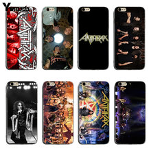 Yinuoda Anthrax Dio Rock Band Weiche Transparente silikon coque Abdeckung fall Für iPhone 6 6 plus 7 7 Plus 8 8 plus X XS XR XSMax(China)