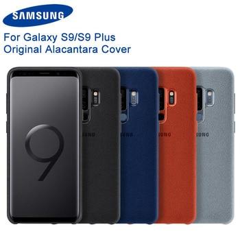 Orijinal Samsung Alcantara moda telefon kılıfı Fundas Coque için 4 renk Samsung Galaxy S9 G9600 S9 + S9 artı g9650