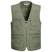 Brieuces  New Summer Outdoors Travels Vests Mesh Vest S-5XL Photographer Vest Shooting Vest with Many Pocket Wholesale