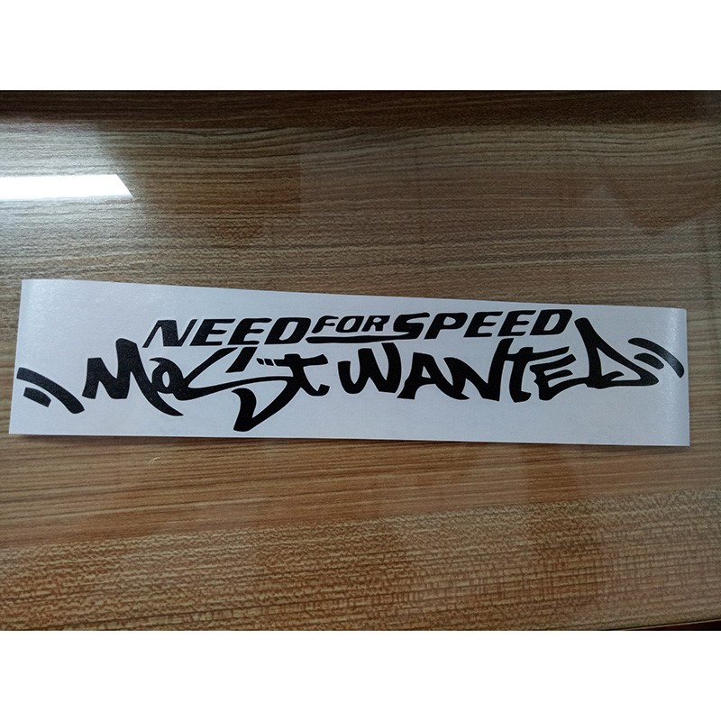 JDM White English Need For Speed Scratch Auto Car Windshield Decal Vinyl Sticker