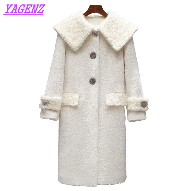 fbd1247e4fc3 New 2018 Autumn Winter warm Woolen Jacket Women Korean Long Wool coat Young  Women Fashion Slim