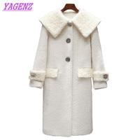 New 2018 Autumn Winter Warm Woolen Jacket Women Korean Long Wool Coat Young Women Fashion Slim