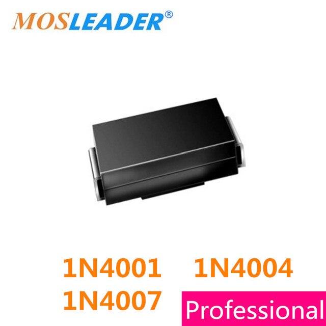 Mosleader 1N4007 1N4004 1N4001 M7 M4 M1 2000 Uds SMA DO214AC 1A 50V 400V 1000V 1kV 4001 4004 4007 productos chinos de alta calidad