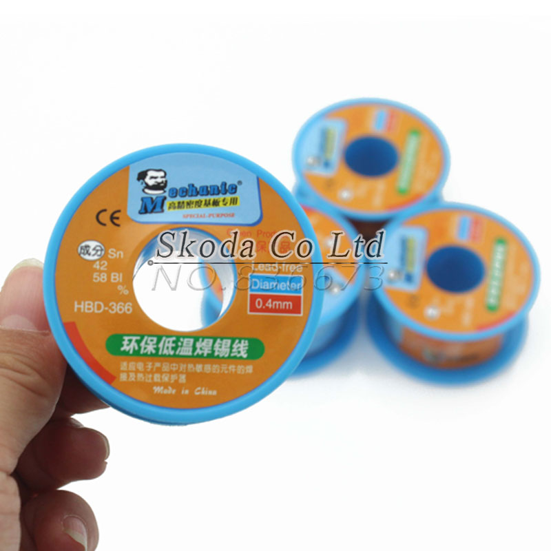Free shipping new Mechanic Lead Free Soldering tin wire 40g Sn42/Bi58 Soldering Wire Roll lead free low temperature solder wire