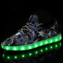 Children USB Charger LED Shoes Unisex Casual Sports for Kids & Adult Fashion Fly Textile Breathabl Lace Up Boy & Girls Sneakers